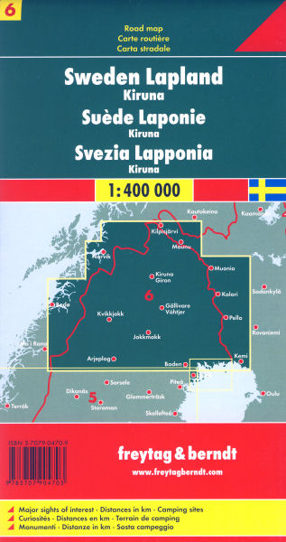 Sweden Lapland Map FreytagBerndt Freytag Berndt - Sweden lapland map