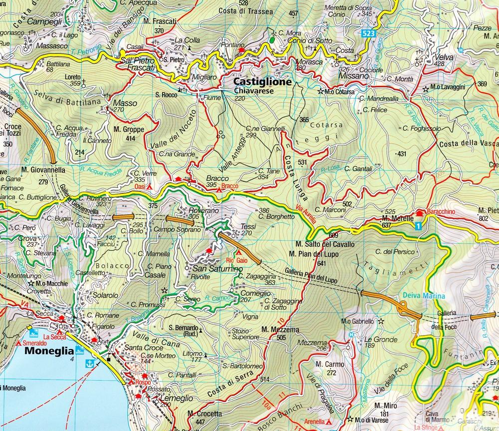 cinque terre kompass. cinque terre map