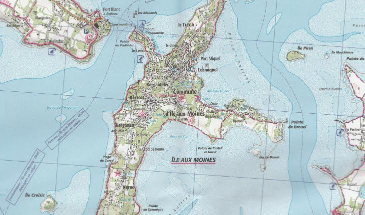 Carte IGN Golfe du Morbihan