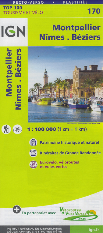 Carte Ign Inde Du Sud.Carte Ign N 170 Montpellier Nimes Beziers