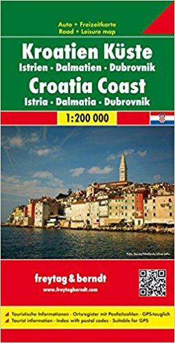 Carte Cote Croatie.Carte De La Croatie Cote Croate Istrie Dalmatie Dubrovnik