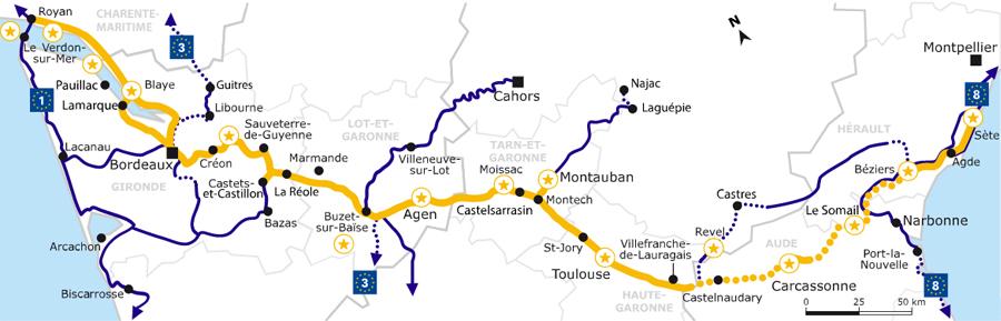 canal du midi en vélo carte Canal des deux mers à vélo   conseils, préparation et itinéraire