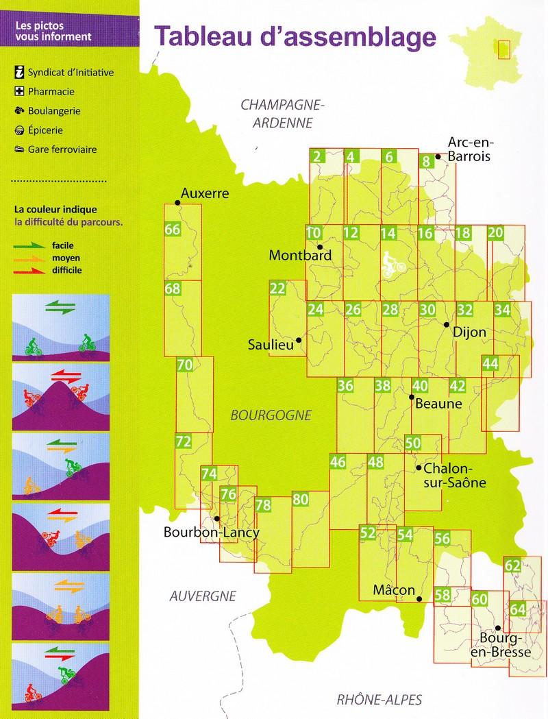 Carte De Bourgogne Michelin.Velo A La Carte En Bourgogne Et Bresse