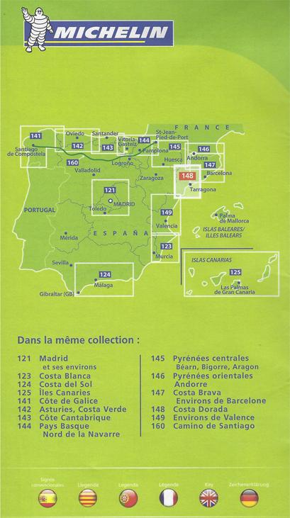 Carte De Barcelone Et Ses Environs.Carte Costa Dorada Et Tarragone Michelin