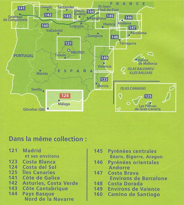 Carte De Barcelone Et Ses Environs.Carte Costa Del Sol Michelin