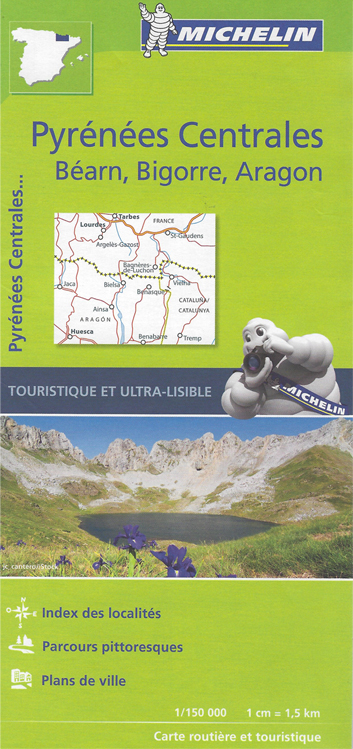 Carte Pyrenees Centrales Michelin