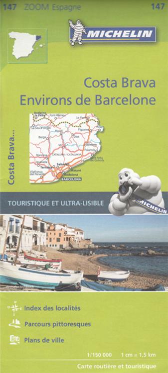 Carte Costa Brava et Barcelone - Michelin